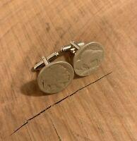 Buffalo Indian Head Nickel Coin Jewelry Cuff Links-Handmade-Vintage