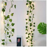 Plantes Artificielles Lumières LED Lierre Maison Jardin Éclairage Suspendu 1x2m