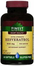 Finest Nutrition Resveratrol 500mg Extra Strength, 60 Softgels
