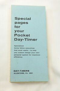 Special Pages For Your  Pocket Day-Timer Spare Pages Refill