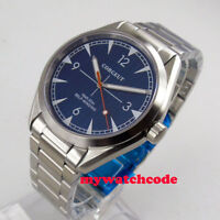 Solid 41mm corgeut blue dial sapphire glass MIYOTA 821A Automatic mens Watch 163