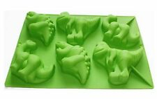 Dinosaur Shaped Silicone Baking Mould - 6 Cavity Cake Muffin Jelly Soap Mold
