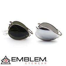 2 PAIR Aviator BUNDLE Sunglasses Folding Pocket Metal Aviator Sunglasses