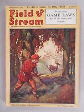 Field & Stream Magazine - September, 1929 ~~ Field and Stream ~~ Game Laws