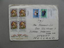 HUNGARY, cover to the Netherlands 2007, block of 4 mushroom strip trad. costumes