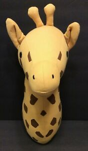 Giraffe Plush Stuffed Animal Nursery Room Wall Hanging Head Mount Decoration