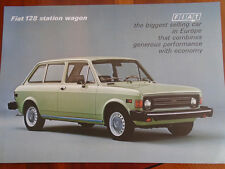Fiat 128 Station Wagon brochure c1970's
