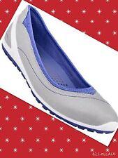 ECCO Size 6.5 US 'Biom Lite' Ballerina Flat BALLET FLAT SLIP ON Gray,sliver