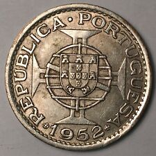 1952 Macau Silver 5 Patacas XF