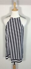 Witchery Top Sz 12 14 Black White Gold Chain Work Formal Career Party NWOT ❤️