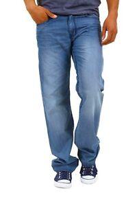 Jeans Uomo Pantaloni M.O.D. B271 Regolare Gamba Dritta Blu Tg 33 36