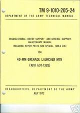 40-MM Grenade Launcher M79, Maintenance