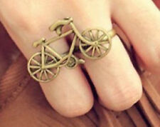 Alloy cool Fashion classic bicycle Shaped Finger Ring Bikes