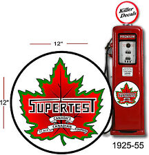 "(SUPE-1) 12"" 1925-55 SUPERTEST DECAL FOR OIL CAN / GAS PUMP / LUBSTER"