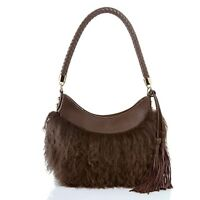Frosting by Mary Norton Mongolian Lambskin  & Leather Hobo