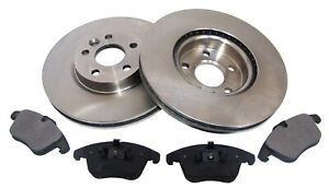 For Ford Galaxy S-Max Volvo S80 Front Vented Brake Discs Pads Brake Kit 300mm