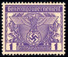839-GERMAN EMPIRE-Third reich.WWII.GENERALGOUVERNEMENT NAZI Court REVENUE MNH**