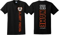 JUST RIDE CUSTOM NUMBER PLATE T SHIRT MX MOTOCROSS PERSONALIZED MOTO