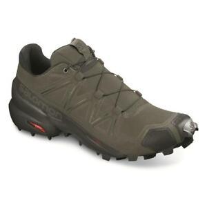 New Stich Free Salomon Men's Speedcross 5 Trail Running Shoes Black Gray Green