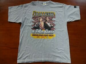 The Challenge Oscar De La Hoya VS Ike Quartey WBC Boxing T Shirt XL