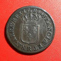 #1530 - RARE - Louis XVI Sol 1784 R Orléans Belle qualité - FACTURE