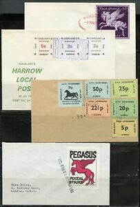 GREAT BRITAIN 1971 POSTAL STRIKE LOT OF FOUR PRIVATE FRANKED COVERS