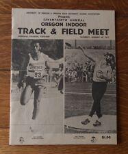 >1/29/77 OREGON INDOOR TRACK & FIELD MEET PROGRAM Mac Wilkins/ Vintage Nike Ad