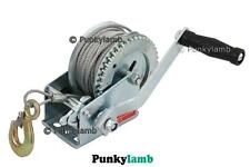 Professional 1200Lb Heavy Duty Hand Boat Marine Winch Trailer Caravan 20m cable