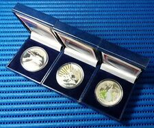 3X 1999 Lao 3,000 KIP Lunar Year of the Rabbit Silver Proof Coin (Lot of 3 pcs)
