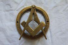 More details for masonic brass door knocker, good condition