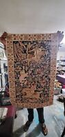 Fine  Antique Hand Woven Tapestry, Great Color, Condition 3x4ft