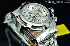Invicta Men's 52mm Bolt Zeus Swiss Chronograph Silver Dial Silver Tone SS Watch
