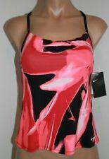 Nw Nike Swim Swimsuit Sport Tankini Top Size S Tropical Pink