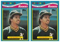 (2) 1988 Topps Toys R' Us Rookies Baseball 24 Luis Polonia Lot Athletics