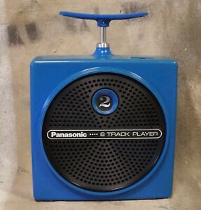 vintage 70s PANASONIC RQ-830S Blue TNT Portable 8 Track PLAYER * Tested Works