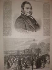 Opening of Finsbury park London 1869 print