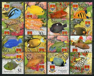 Kiribati Fish Stamps 2002 MNH Tropical Fishes Marine 16v Set