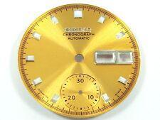 New Gold Dial for Seiko 6139 6002 6001 6002 6000 6005 Pepsi Single Chrono Watch