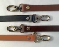 """1/2"""" Genuine Cowhide Quality Leather Cross Body Handle Bag Replacement Strap NEW"""
