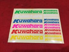 NOS VINTAGE KUWAHARA MULTI-COLOR STICKER PAGE BMX FREESTYLE