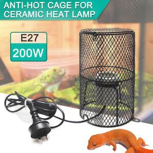 Reptile Ceramic Heat Lamp 200W Holder Snake Chicken Brooder Light Switch Cage