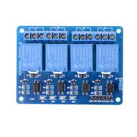 5V 4-Kanal-Relais Platinen-Modul mit Optokoppler-LED für Arduino PIC Arm J EJ