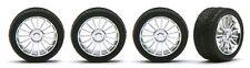 Pegasus 1206 x 1/24-1/25 Spider Chrome Rims w/Tires (4)