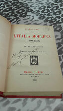 L'ITALIA MODERNA 1750-1923 DI PIETRO ORSI ANNO 1923