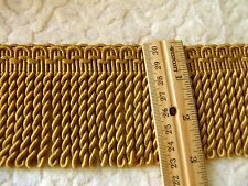 "BY THE YARD ~ Beautiful 3"" Gold Bullion Fringe Trim ~ Upholstery Pillows Crafts"