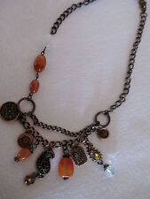 VINTAGE MULTI COLOURED DECORATIVE NECKLACE