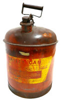 Vintage Eagle Gas Service Station 5 Gallons Tin Gasoline Can