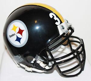 Jerome Bettis Pittsburgh Steelers Riddell Custom Mini Helmet w/ Metal Facemask