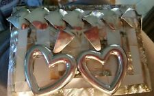 Link Bracelet and matching earrings! Mexico 925 stamped Sterling Silver Heart
