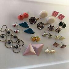 Lot Of 15 Women's Costume Earrings Variety